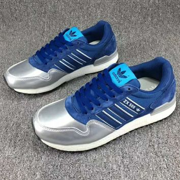 Adidas ZX500 GG NIGO Trending Fashion Casual Sports Shoes Sliver Blue G-CSXY