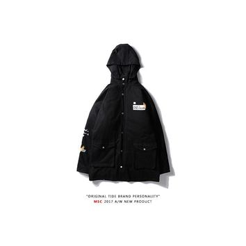 Cotton Training Long Sleeve Hats Zippers Jacket [350389338148]