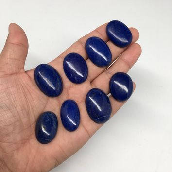 325cts, 8 pcs,Natural Oval Shape Lapis Lazuli Cabochons @Afghanistan,Lot118