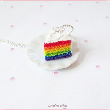 Scented Rainbow Cake Necklace FREE SHIPPING by decadanceminis