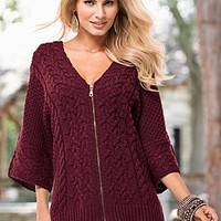 Zip Up Relaxed Sweater