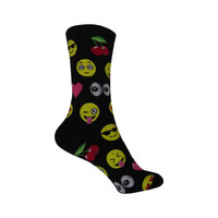 Emojis Crew Socks in Black