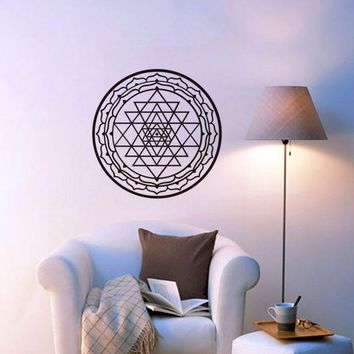 Fractal Sri Yantra Wall Sticker