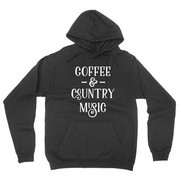 Coffee and country music hoodie