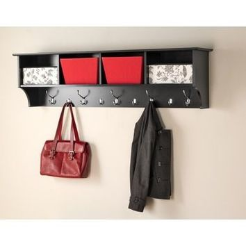 "60""W Hanging Shelf - Black"