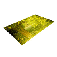 "Iris Lehnhardt ""Summer"" Tree Green Woven Area Rug"