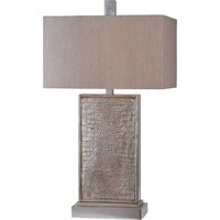 "Kovarro 29"" Table Lamp Silver Leaf"