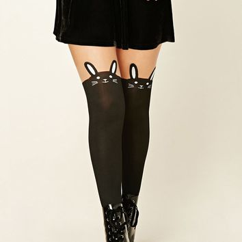 Two-Tone Bunny Face Tights