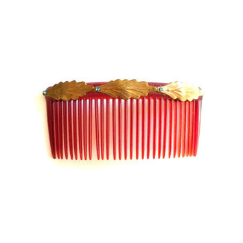 Red Hair Comb Plastic Hair Comb Gold Hair Comb Hair Accessories