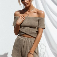 Nevea Ribbed Top - Tops by Sabo Skirt