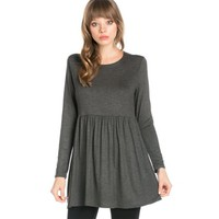Azules Women's Long Sleeve Baby Doll Tunic - Walmart.com
