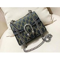 Gucci Fashion Casual New Embroidery Bacchus Shoulder Messenger Bag