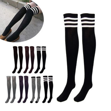Over the Knee Socks Thigh High Thick Socks Striped  7 Choices
