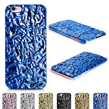 Aluminum Foiled Water Wave Blue iPhone 6/6s Case iPhone 6/6s Plus Case 07BL