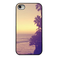 Sunset Iphone cover - case for Iphone 4 4s and 5 - sunset - california - dreamy surreal whimsical Iphone case - girly iphone case