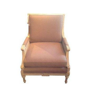Pre-owned Vintage Cane Arm Chairs - A Pair