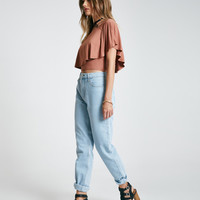 Blue Asphalt High-Rise Mom Jeans | Wet Seal