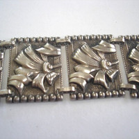 Arts  Craft Vintage Jewelry Sterling Link  Bracelet