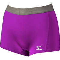 Mizuno Flat Front Spandex Short G2 Electric Purple