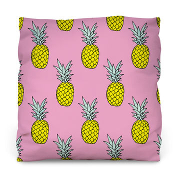 Pineapple Party Outdoor Throw Pillow