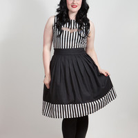 Gothic Stripes & Bat Dress Beetlejuice inspired. by emeraldangel