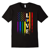 Love Rainbow Heart Flag - Gay Pride Shirt - LGBT