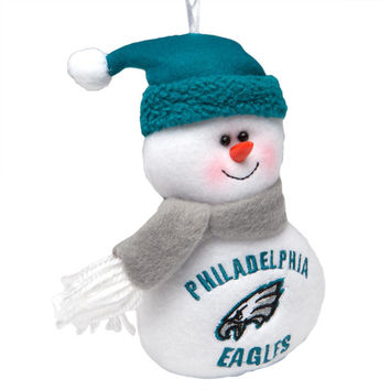Philadelphia Eagles - Plush Snowman Ornament