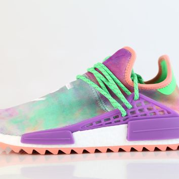 BC QIYIF Adidas PW Pharrell Williams HU Human Race NMD HOLI MC Flash Green Chalk Coral Purple AC7034 (NO Codes)