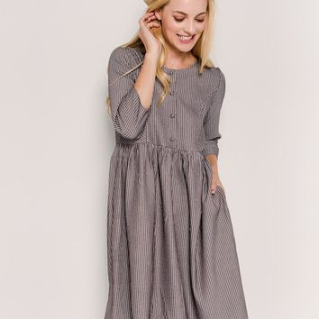 Brianna 3/4 Sleeve Nursing Friendly Dress