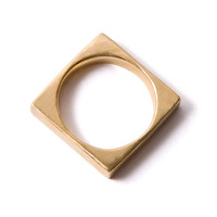 Square Men's Ring Band