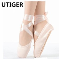 2017 Child and Adult ballet pointe dance shoes ladies ballet dancing shoes with ribbons shoes girl woman dance shoes