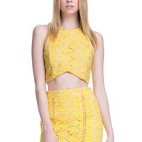 Premium Collection - Lemon Lace Top