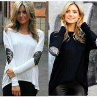 Women's Fall Fashion  Plus Size Long Sleeve Shirt Pullover Korean Fashion Tops