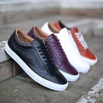 Trendsetter Vans Old Skool Leather Sneakers Sport Shoes