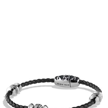 Men's David Yurman 'Frontier' Bead Bracelet in Black - Silver/ Black