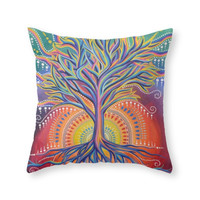 Society6 Tree Of Life Throw Pillow