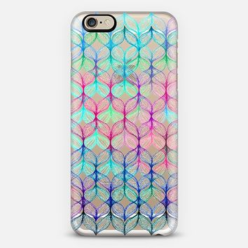 Mermaid's Braids in Rainbow Colors on Transparent iPhone 6 case by Micklyn Le Feuvre   Casetify