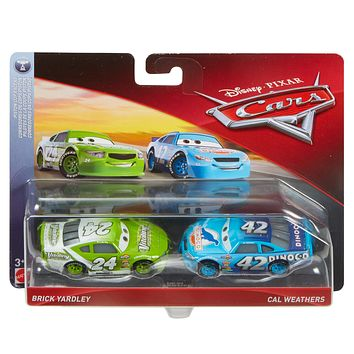 Cars 3 Diecast 1:55 Scale Movie Moments 2 pack- Brick Yardley Cal Weathers
