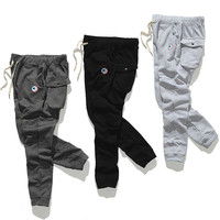 Embroidery Men Casual Autumn Pants [6543159619]