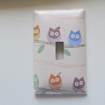 Three Little Owls Switch Plate