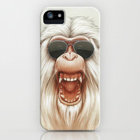 The Great White Angry Monkey iPhone & iPod Case by Dr. Lukas Brezak