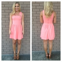 Coral Cut Out Bailey Dress