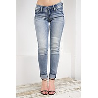 Dear John Light Wash Faded Skinny Jeans