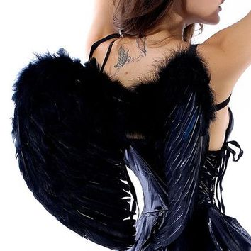 New Arrival Fashionable and Charming White/Black/Red Angel Wings Party Costume Accessories(three colors)
