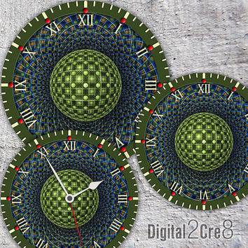 "Large Clock Face - 12"" and 8"" Digital Downloads - DIY - Printable Image - Iron On Transfer - Wall Decor - Crafts - jpg and pdf GP001"
