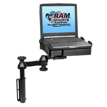 RAM Mount Universal Flat Surface Vertical Drill-Down Vehicle Laptop Mount Stand