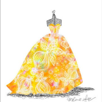Ballgown Sunburst | Canvas Wall Art