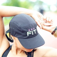 AKA FIT 5-Panel Dri-Fit/EvapoWEAR™ performance cap, black