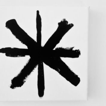 Original Abstract Painting Black and White Modern Abstract Art Geometric Minimalism Painting - 6 x 6 inch Canvas FREE SHiPPiNG (Canada & US)