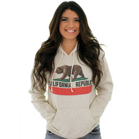 California Republic Vintage California Flag Fleece Unisex Hoodie
